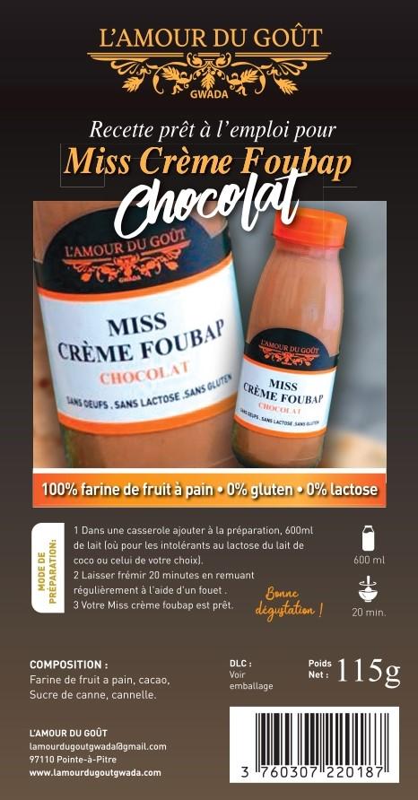 Miss Crème Foubap Chocolat(La Recette – 6 personnes)